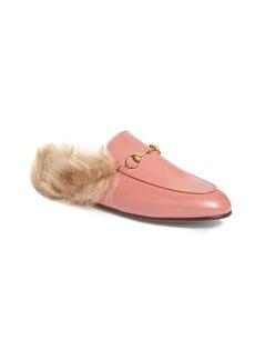 Gucci 'Princetown' Genuine Shearling Loafer Mule (Women)