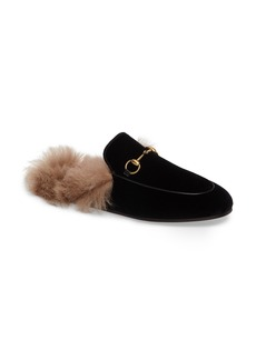 Gucci Princetown Genuine Shearling Mule Loafer (Women)