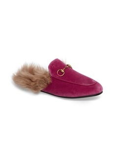 Gucci 'Princetown' Genuine Shearling Mule Loafer (Women)