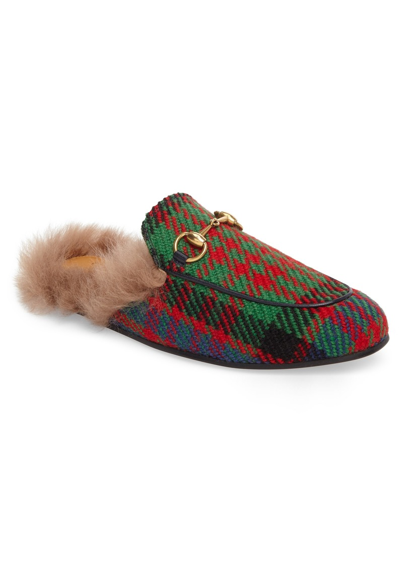 d8ccbc3652b Gucci Gucci Princetown Genuine Shearling Plaid Loafer Mule (Men)