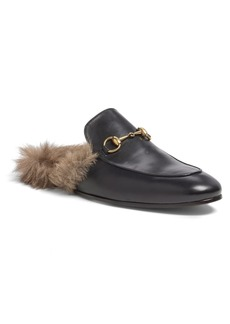 Gucci Princetown Genuine Shearling Slipper (Men)