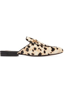 Gucci Princetown horsebit-detailed leopard-print calf hair slippers