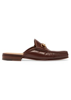Gucci Roos leather backless loafers