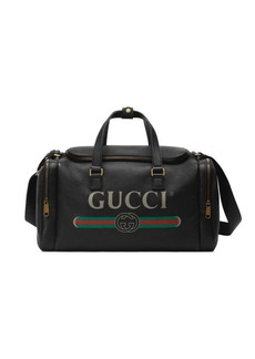 Gucci Print Leather Carry-On Duffle