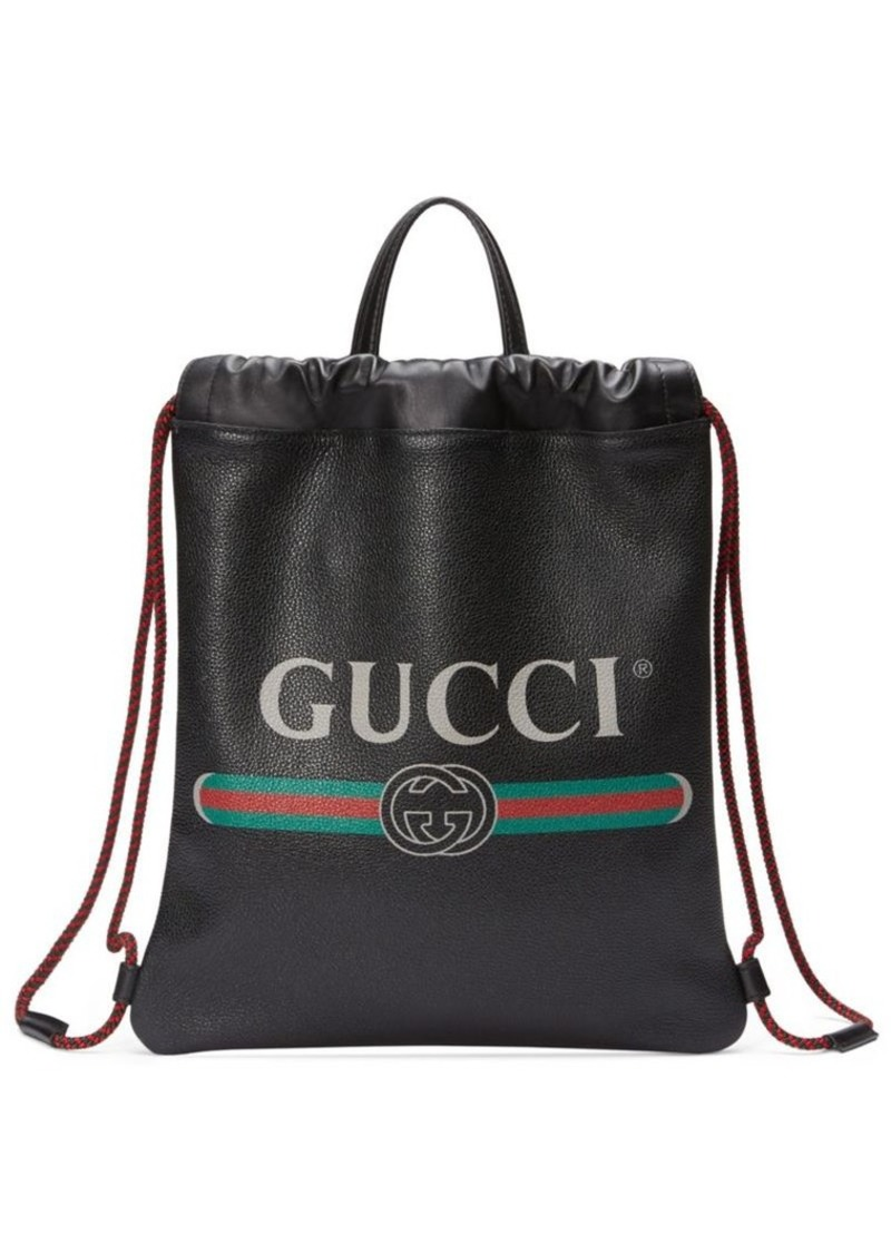 73665c7d0df9e3 Gucci Gucci Print Small Drawstring Backpack