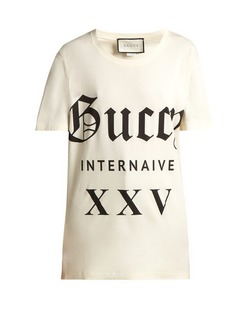 2a8a23a1ca2 Gucci Printed cotton-jersey T-shirt