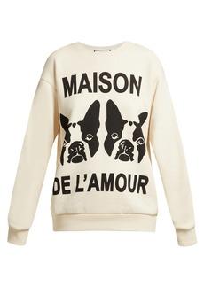 Gucci Printed oversized cotton-jersey sweatshirt