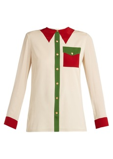 Gucci Printed silk-georgette blouse