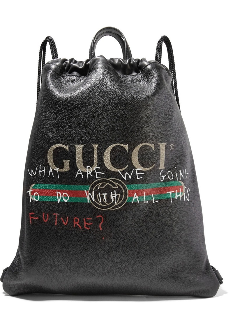 3d0285757 Gucci Printed textured-leather backpack | Handbags