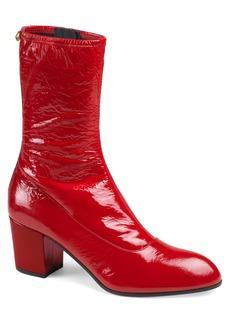 Gucci Printyl Patent Leather Zip Boot (Men)