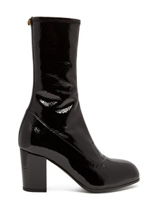 Gucci Pryntil patent-leather ankle boots