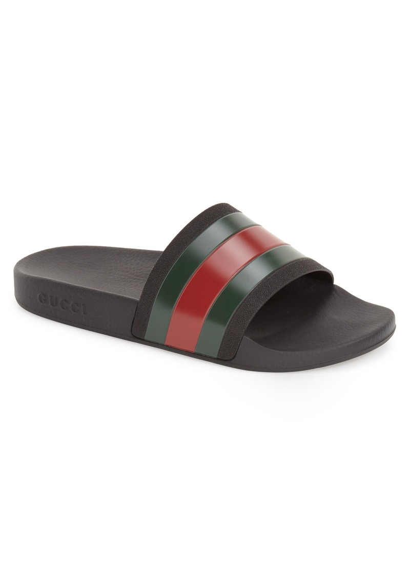 Gucci Pursuit Rubber Slide Sandal (Men)