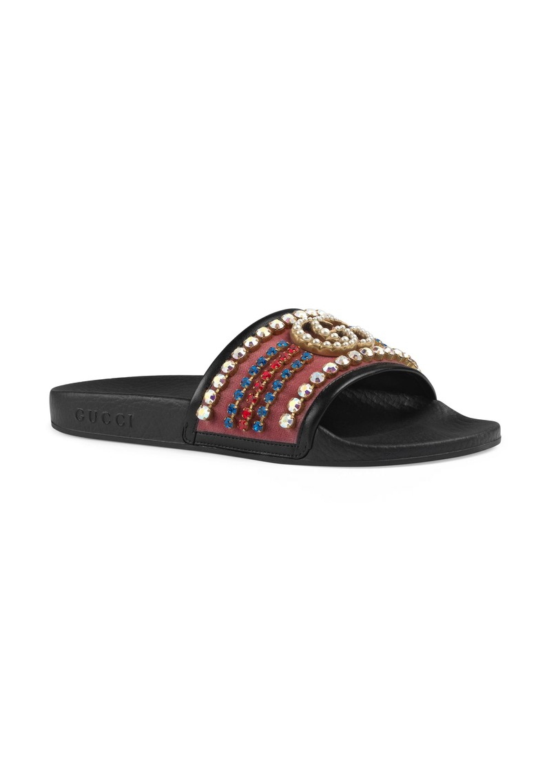 dae3ee4fb Gucci Gucci Pursuit Crystal Slide Sandal (Women) | Shoes