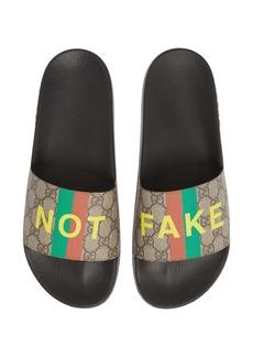 Gucci Pursuit GG Supreme Fake/Not Slide Sandal (Men)