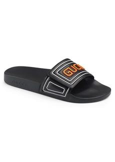Gucci Pursuit Logo Slide Sandal (Men)