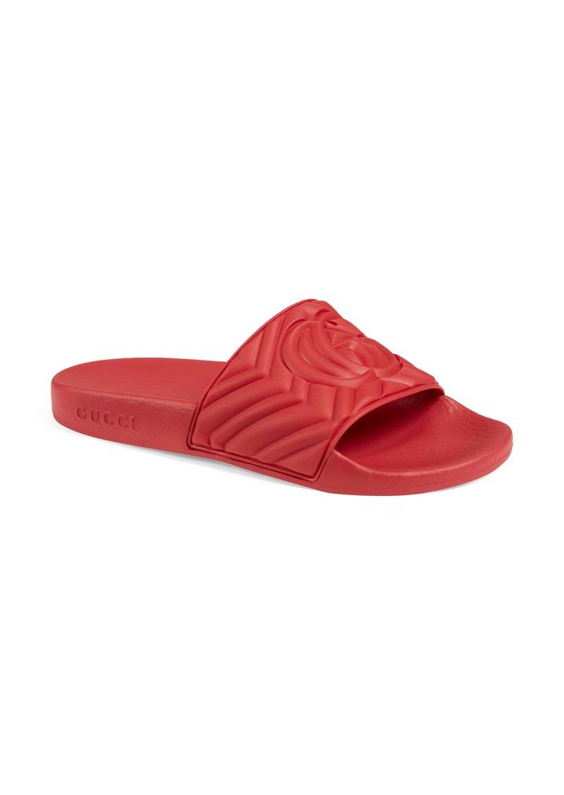 Gucci Logo Slide Sandal (Women)