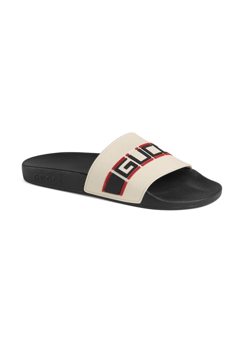 42d674619 Gucci Gucci Pursuit Logo Slide Sandal (Women) | Shoes