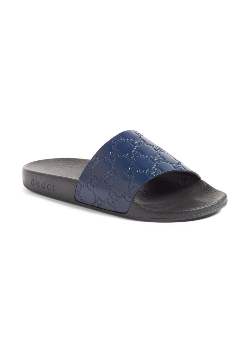 3684daa37ba Gucci Gucci Pursuit Logo Slide Sandal (Women)
