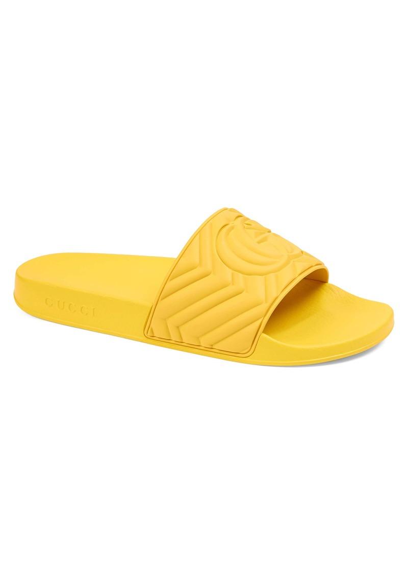 Gucci Matelassé Slide Sandal (Men)