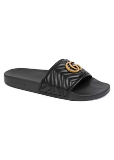 Gucci Pursuit Quilted Slide Sandal (Men)