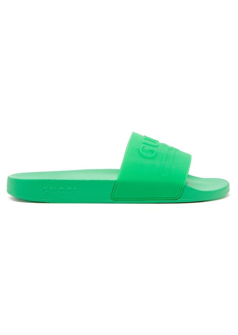 7a02a13f62b854 Gucci Gucci Pursuit rubber slides