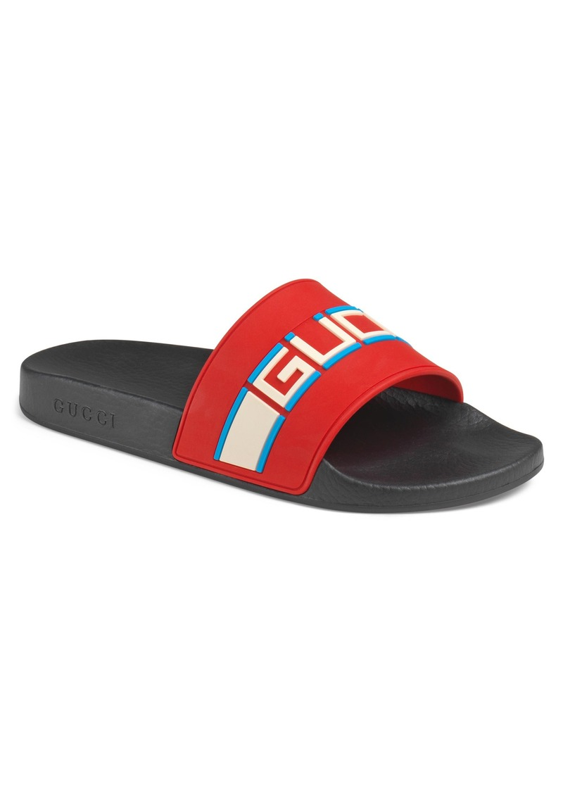 4f7a49ed74c77e Gucci Gucci Pursuit Stripe Slide Sandal (Men)
