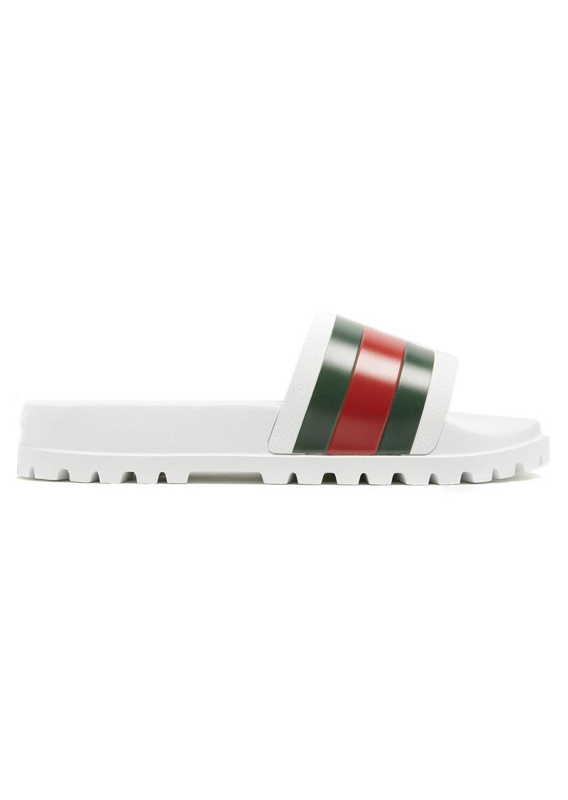 403d58dbd9b Gucci Gucci Pursuit web-striped rubber pool slides
