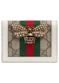 Gucci Queen Margaret GG Supreme Canvas Card Case
