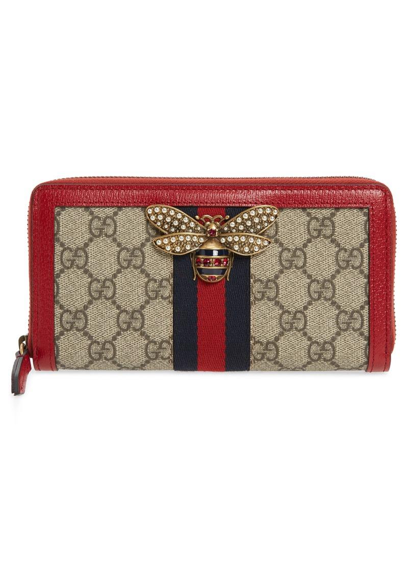 63aa3198d8e4 Gucci Gucci Queen Margaret GG Supreme Canvas Wallet   Handbags
