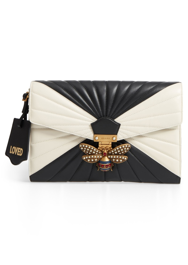 e894f677e28 Gucci Gucci Queen Margaret Matelassé Leather Clutch