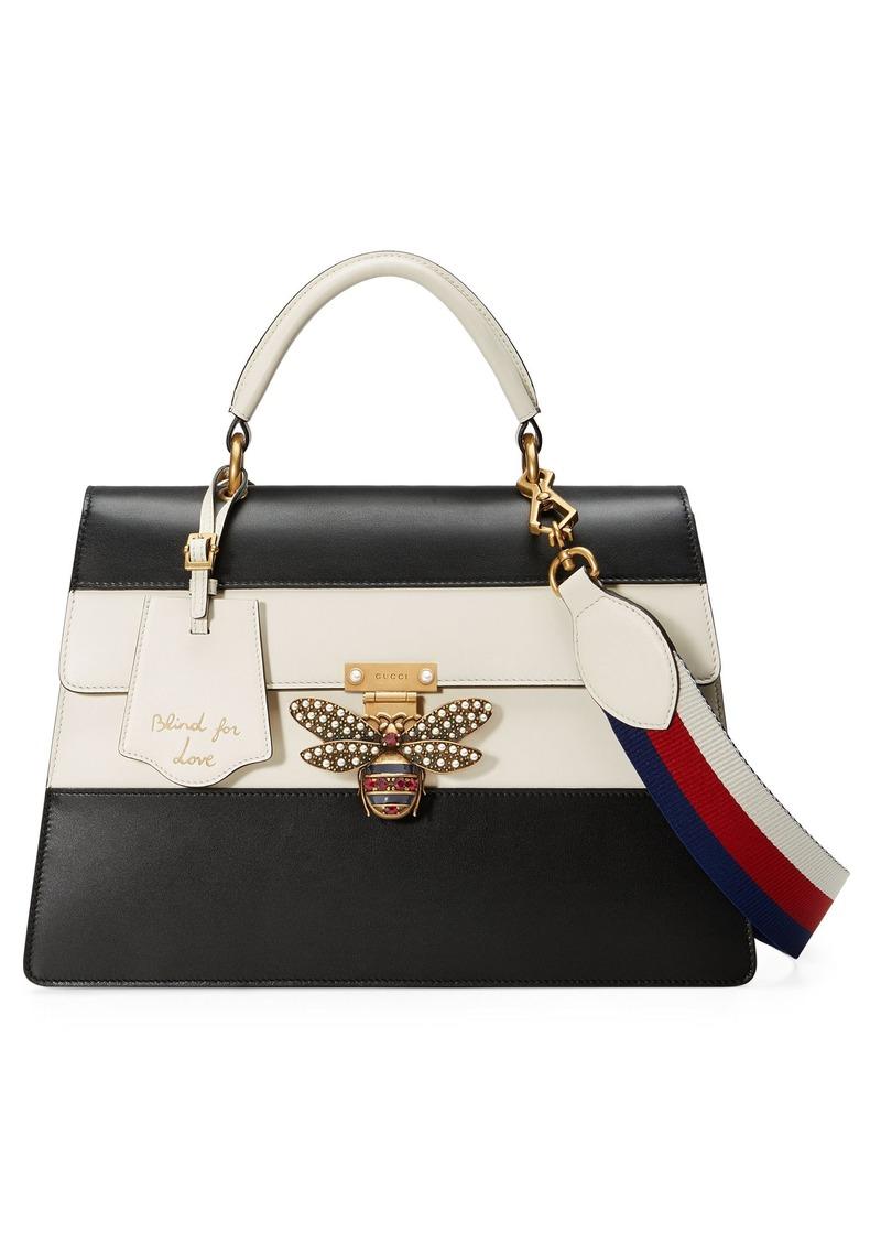 f73232d7ca3 Gucci Gucci Queen Margaret Top Handle Leather Satchel