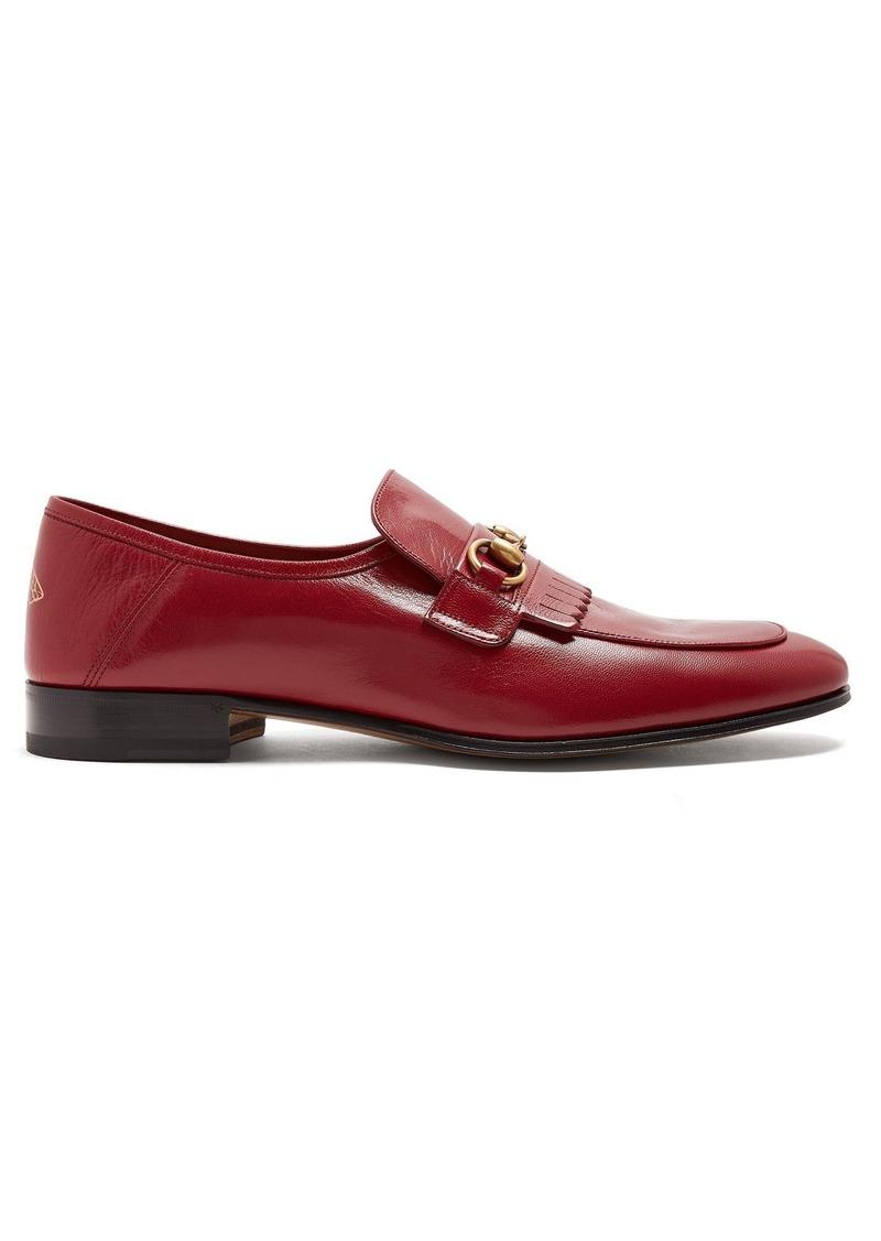 e320332e745 Gucci Gucci Quentin leather loafers