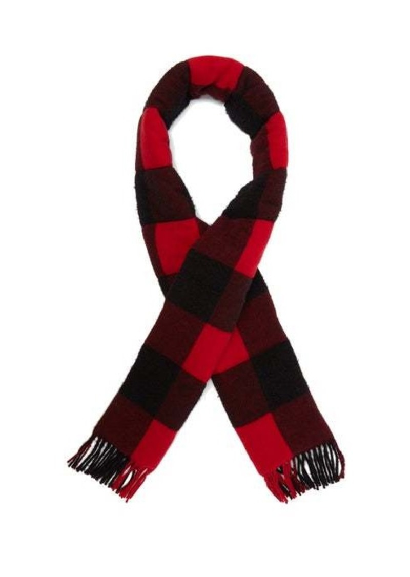 Gucci Quilted checked-wool scarf