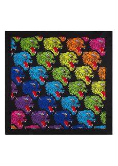 Gucci Rainbow Panther Foulard Silk Twill Scarf