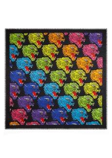 Gucci Rainbow Panther Print Modal & Silk Shawl