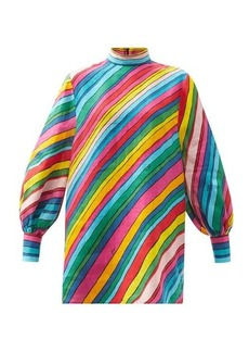 Gucci Rainbow-print linen top
