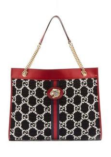 Gucci Rajah large GG-jacquard leather tote bag