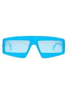 Gucci Rectangle acetate sunglasses