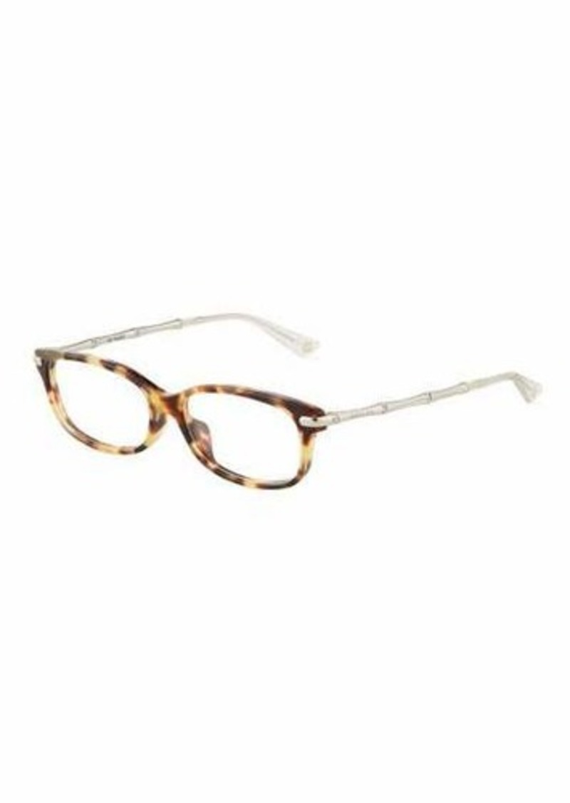 522057af85 Gucci Gucci Rectangle Plastic Metal Optical Glasses Now  111.00 ...