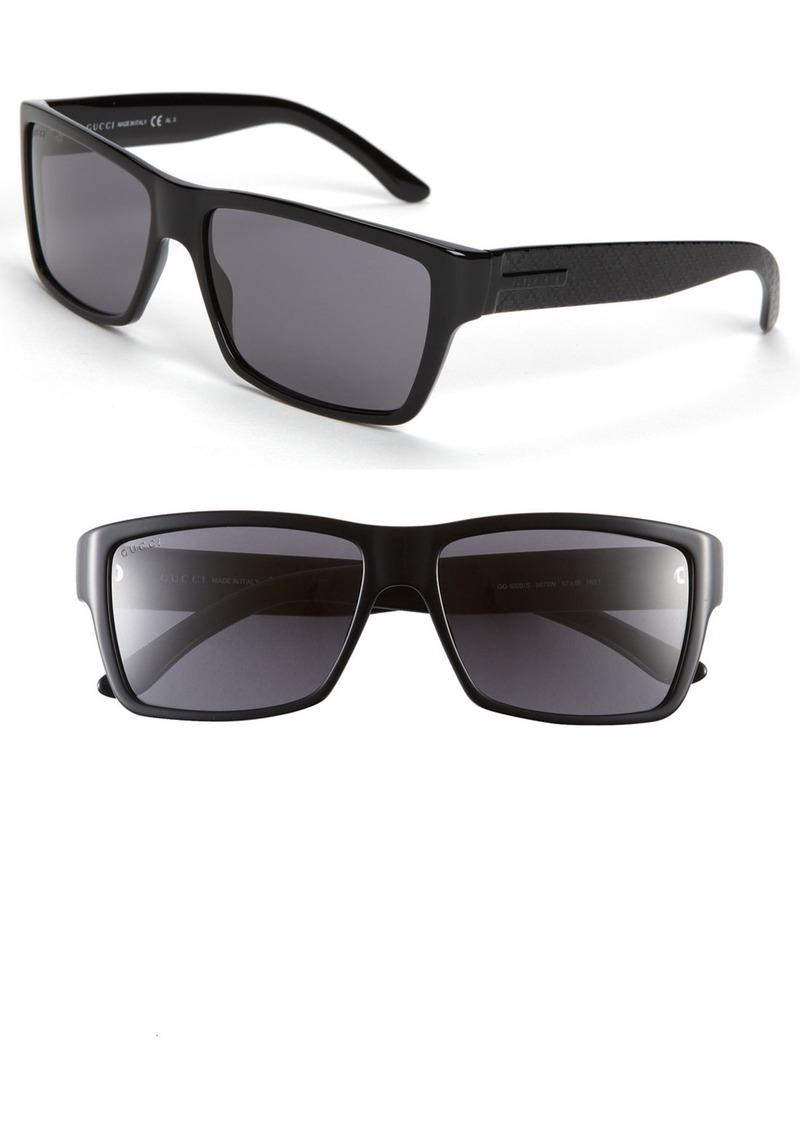 Gucci Rectangular 57mm Sunglasses