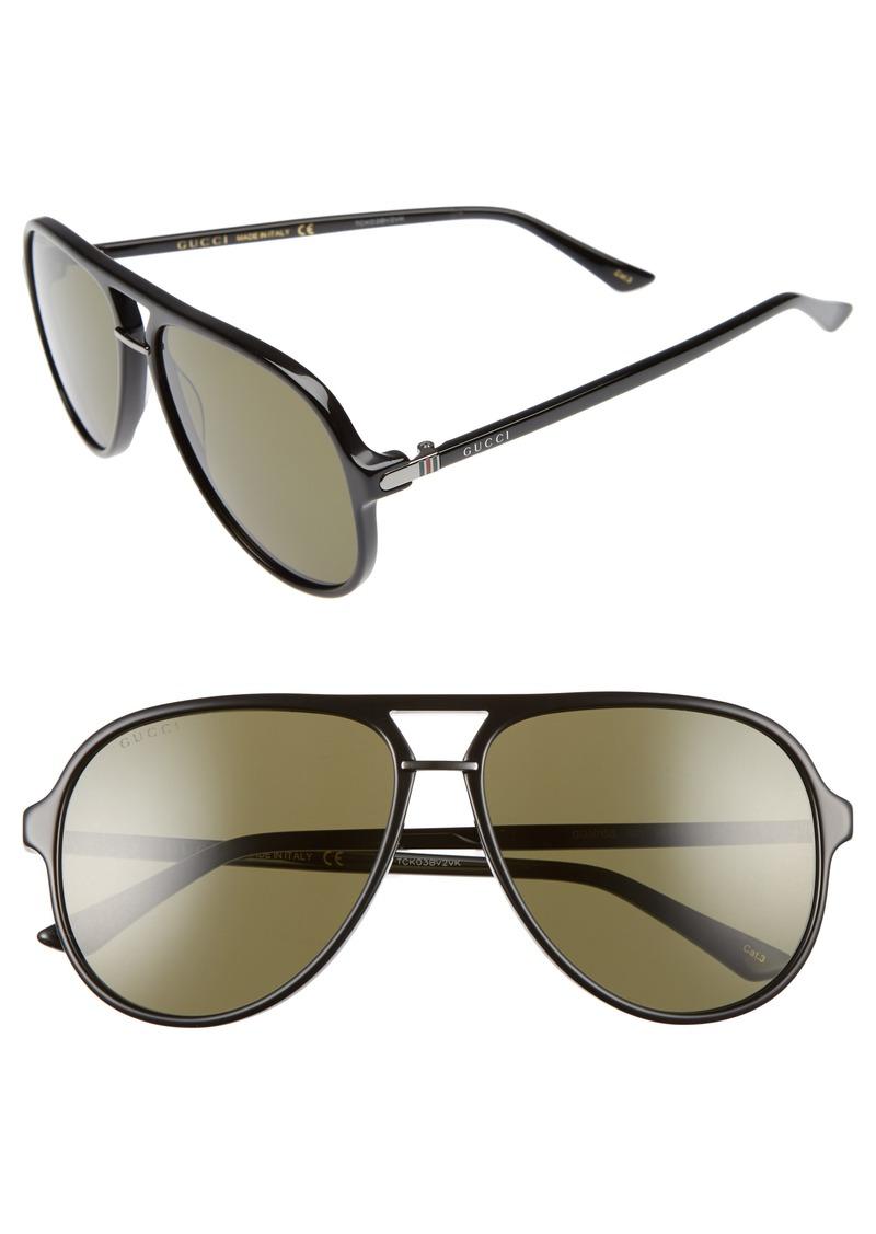 679a11e5a94 Gucci Gucci Retro Web Pilot 58mm Sunglasses