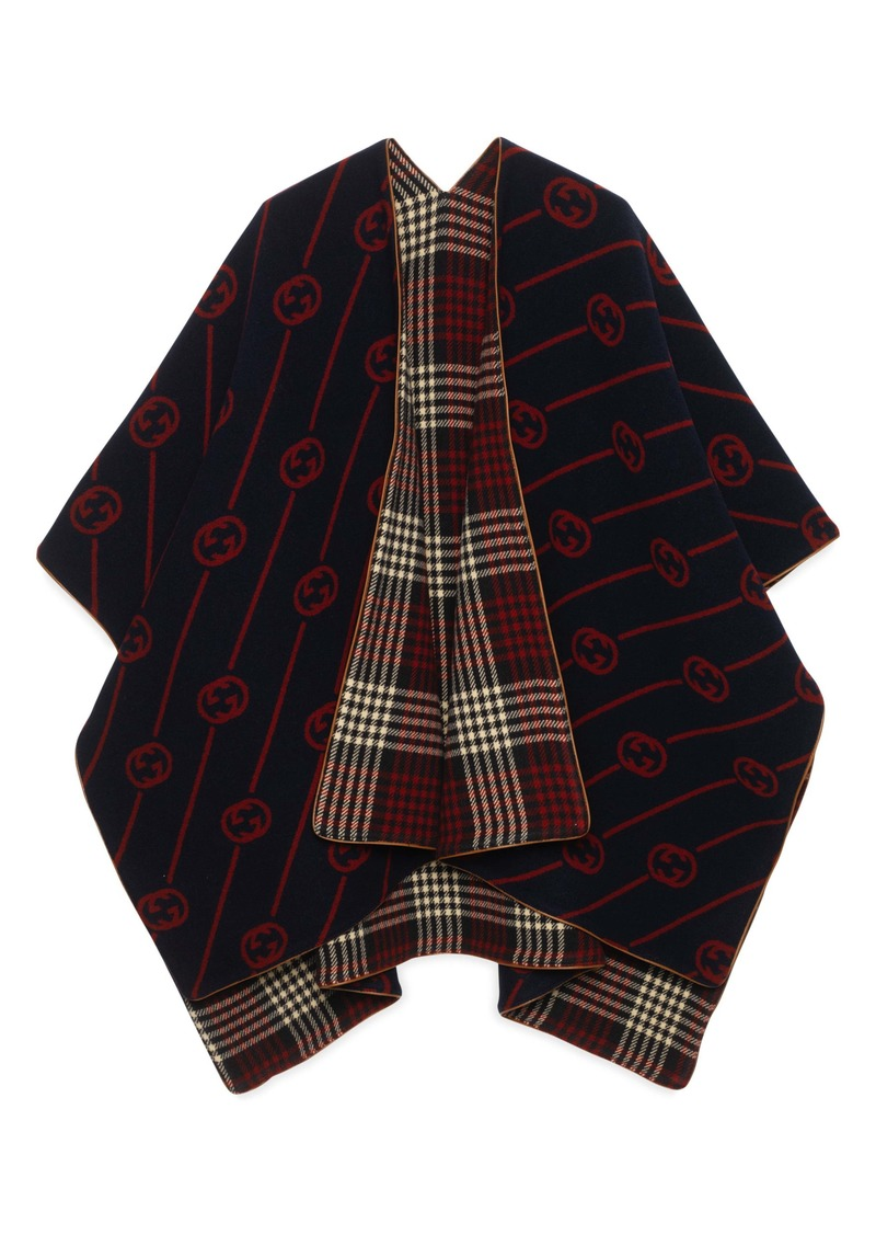 Gucci Reversible Interlocking-G Wool Poncho