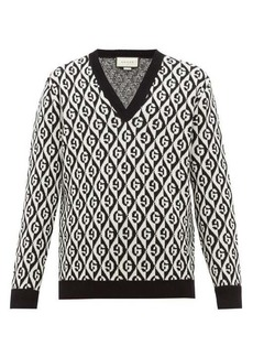 Gucci Rhombi-jacquard pattern wool sweater