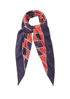 Gucci Rhombus-print silk scarf