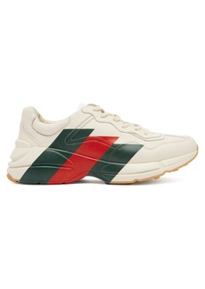 Gucci Rhyton leather low-top trainers