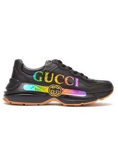Gucci Rhyton logo-print leather trainers