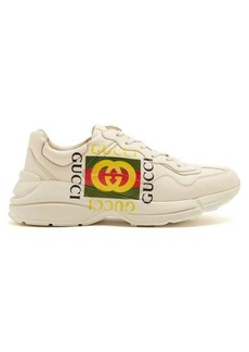 Gucci Rhyton logo-print low-top leather trainers