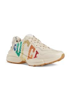 Gucci Rhyton Rainbow Logo Sneaker (Women)
