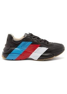 Gucci Rhyton raised-sole striped trainers