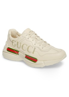 Gucci Logo Leather Sneaker (Men)